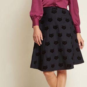 Collectif x Modcloth Black Cat Full Skirt